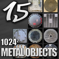 15 Textures of Metal Objects Pack