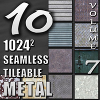 10 Seamless Tileable Metal Wall Floor Texture Pack Volume VII