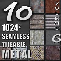 10 Seamless Tileable Metal Wall Floor Texture Pack Volume VI