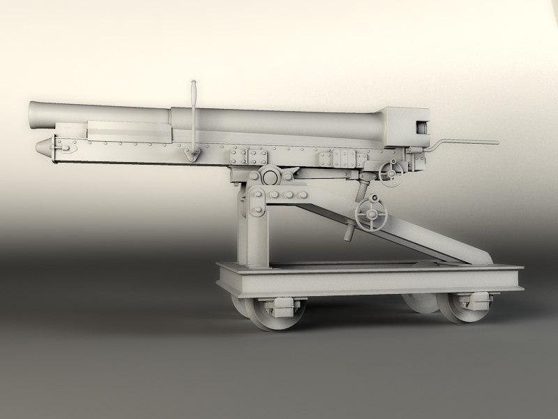 italian gun 3d model