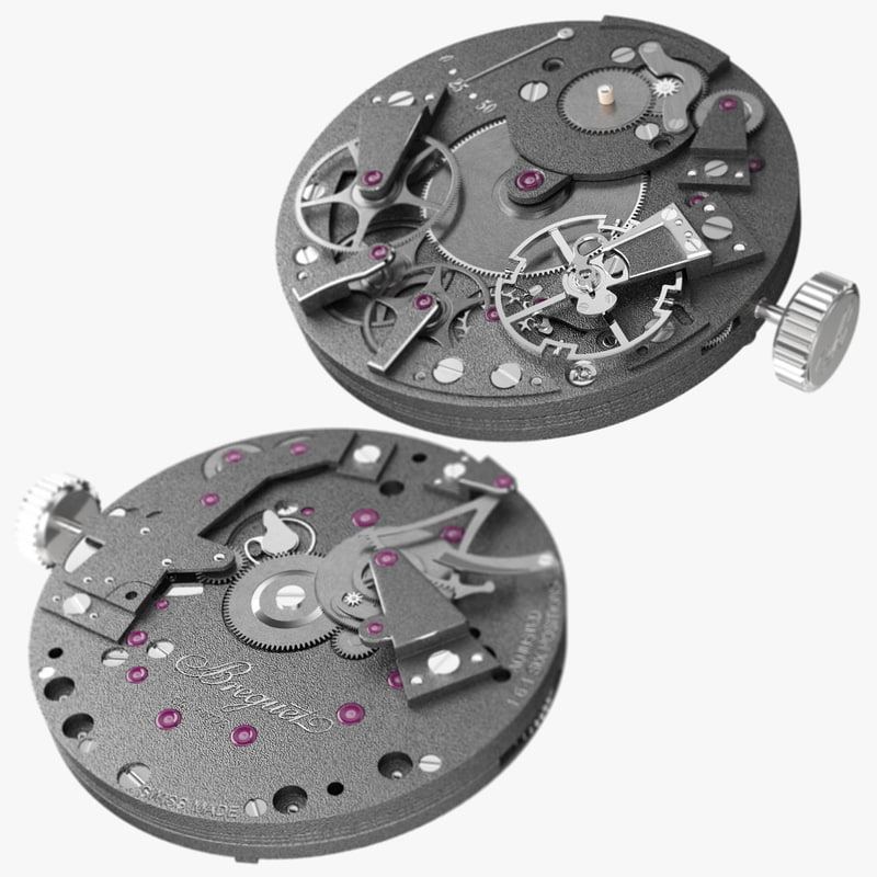 3d model breguet 507dr movement