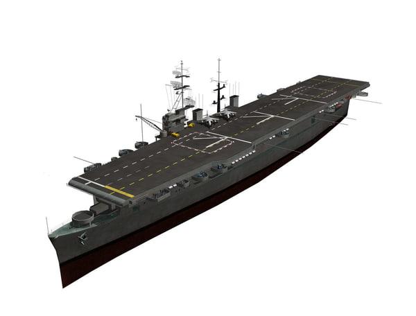3dsmax spanish aircraft carrier dédalo
