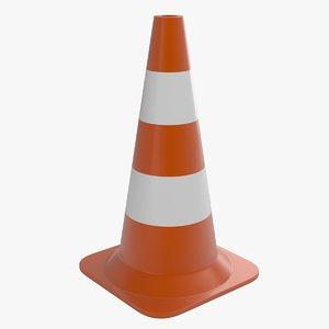 3d traffic cone 2 model