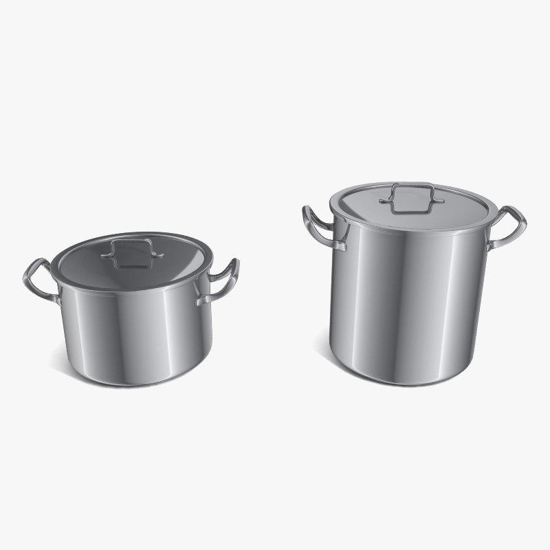 3d model steel pot