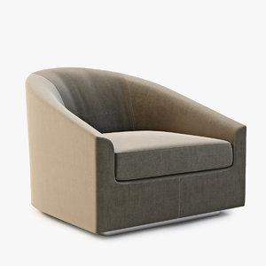 3d minotti quinn armchair