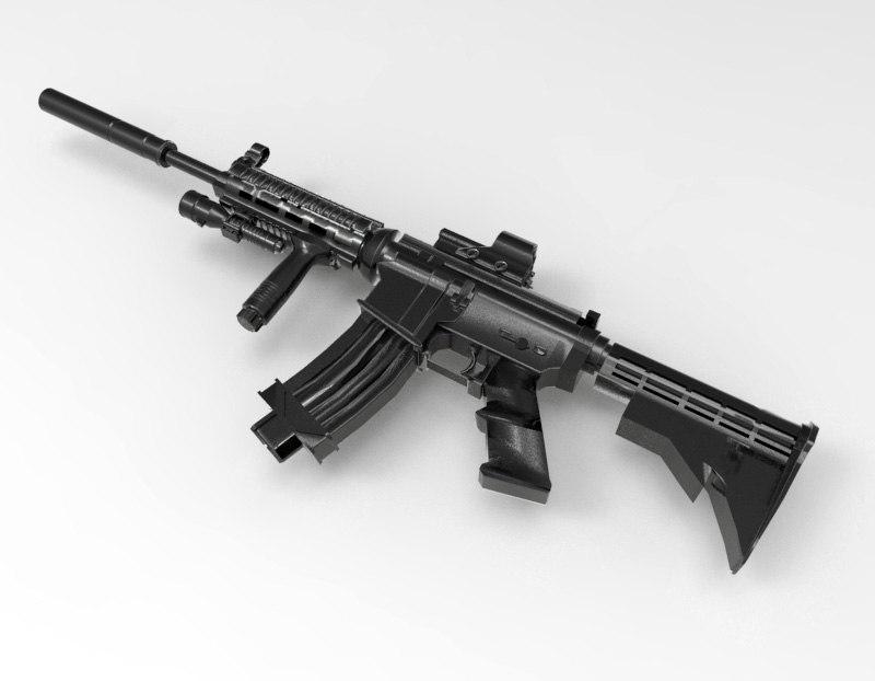 maya m4a1 rifle
