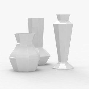 3d obj modern vases