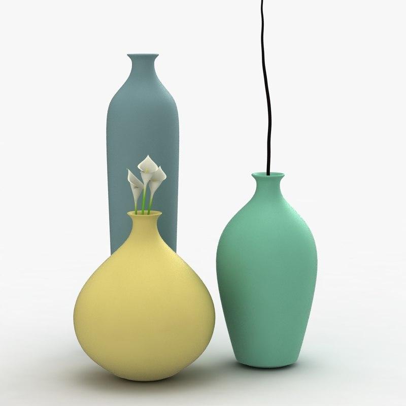 modern vases flowers max
