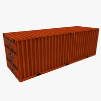 red shipping containers pack 3ds