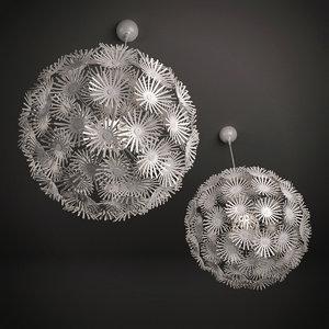 3ds maskros pendant lamp