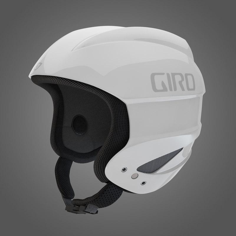 3d model giro sestriere helmet white
