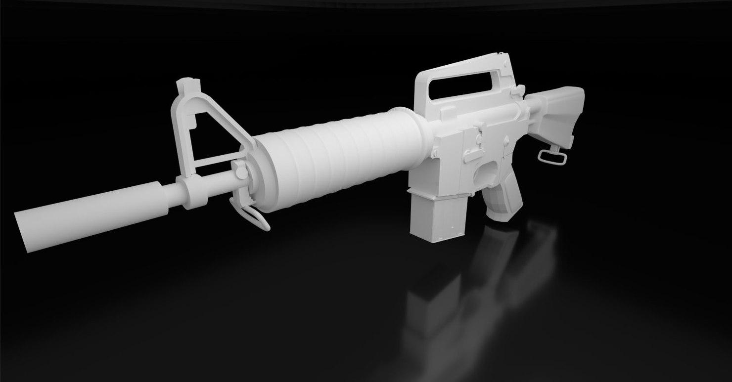 free colt ar15 3d model
