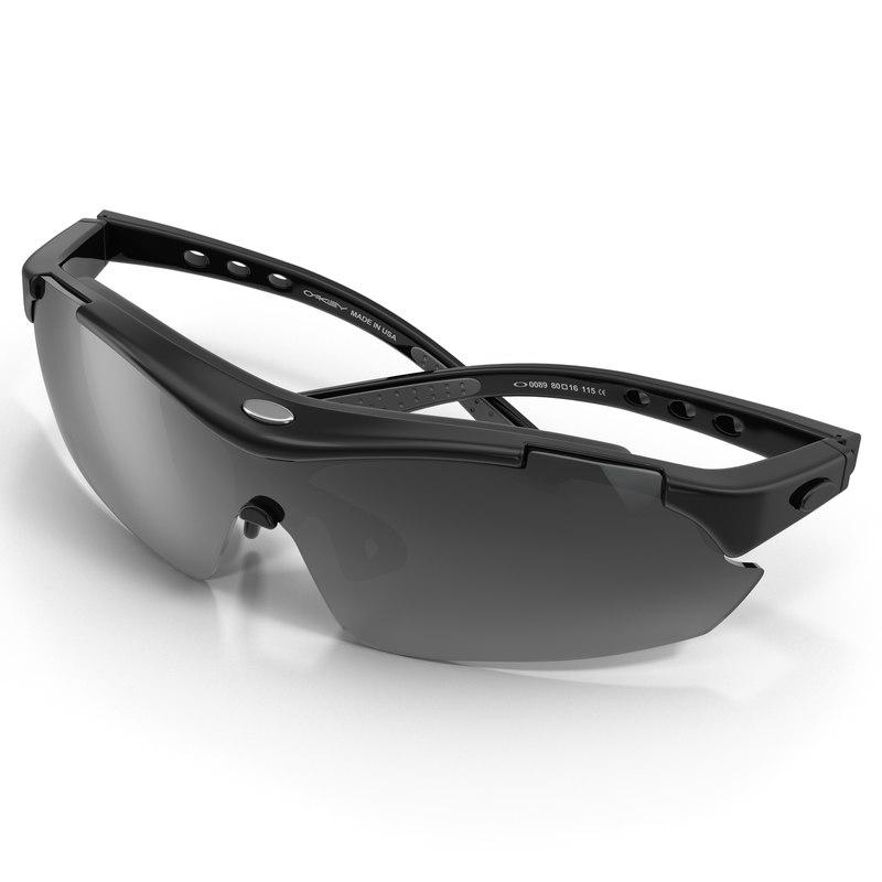 sport glasses 2 black 3d model