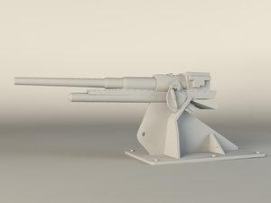 3d model italian gun