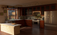 3d kitchen stainless steel