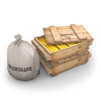 3d reichsbank gold model