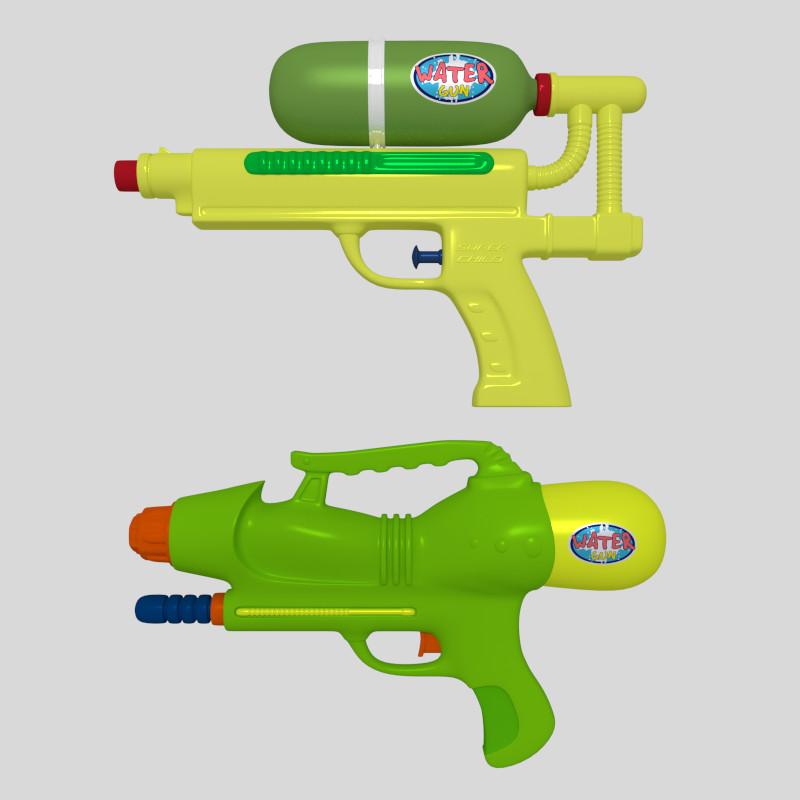 obj water guns