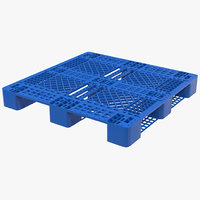 plastic pallet blue 3d max