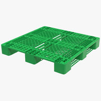 3ds max plastic pallet green