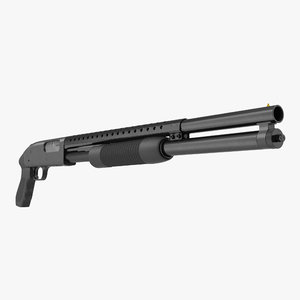 3d model of shotgun modeled realistic