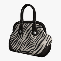 3d model zebra striped bag