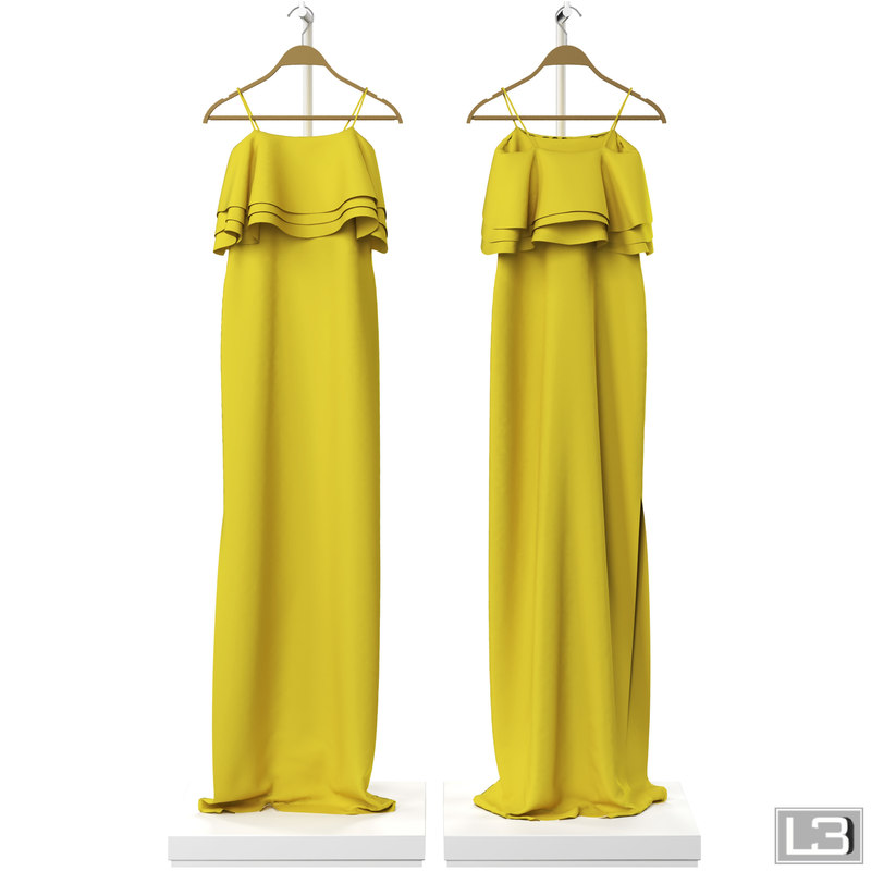 3d model of woman dress hanger