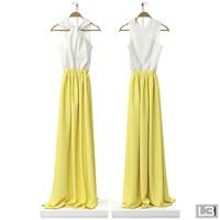 3d model woman dress hanger