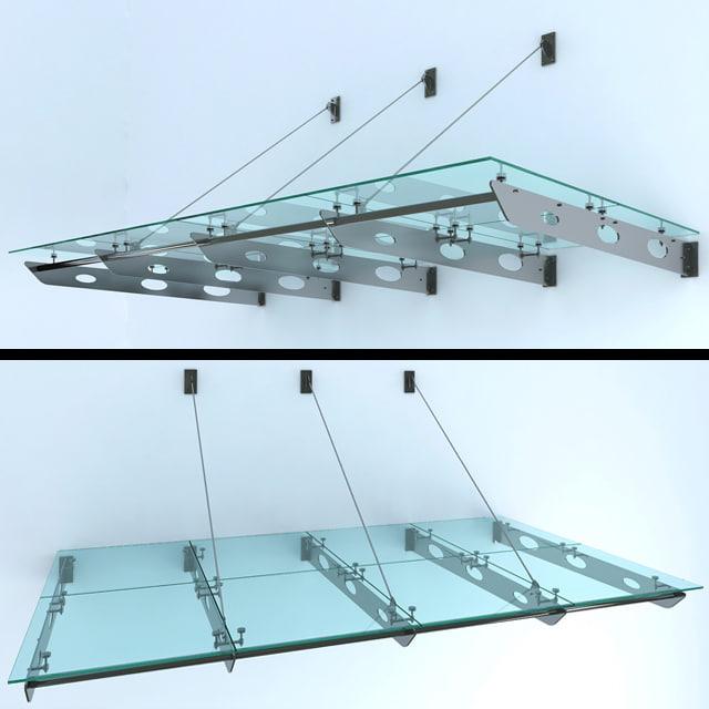 3d model glass canopy