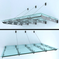 3d model glass canopy