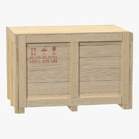 3d wooden shipping crate