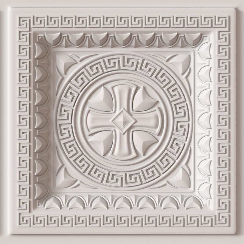 decorative ceiling tile 3d model