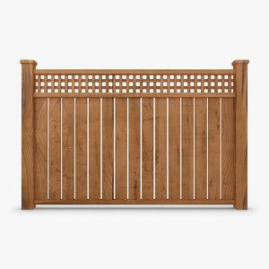 realistic fence wood 03 max