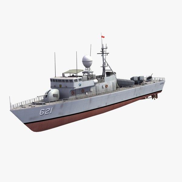 mandau class gunboat 3d model