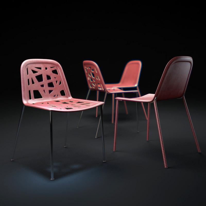 pump-roma-chair 3d model