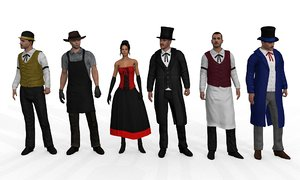 pack rigged wild west 3d max