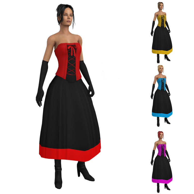 max rigged saloon dancer