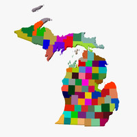 3d counties michigan model
