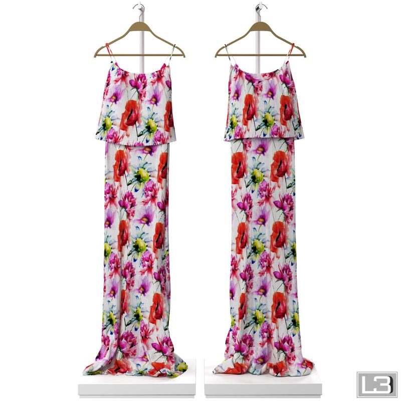 woman dress hanger 3d max