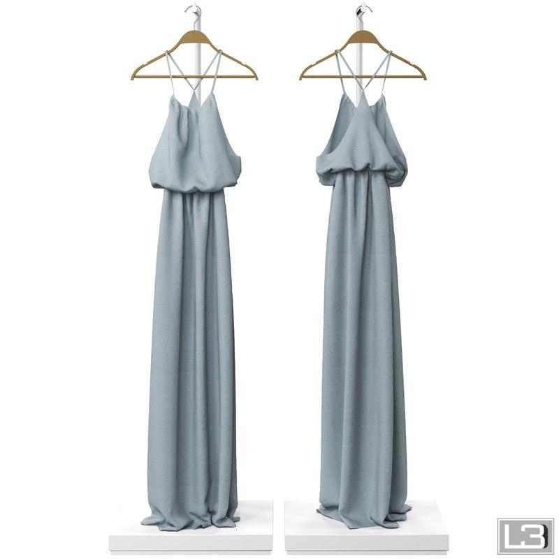 woman dress hanger 3d model