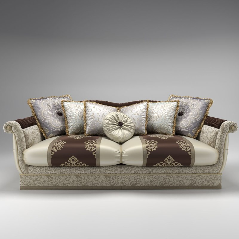 bruno zampa carlos sofa 3d model