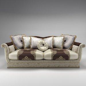 bruno zampa carlos sofa 3d model