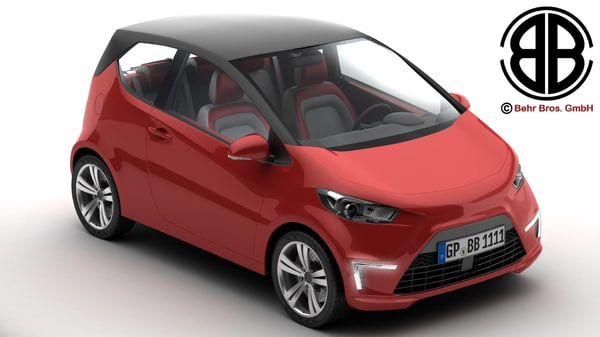 generic city car 3d model
