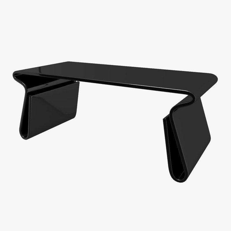 3d Model Adair Black Acrylic Coffee Table