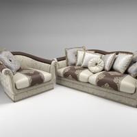 bruno zampa carlos sofa armchair obj