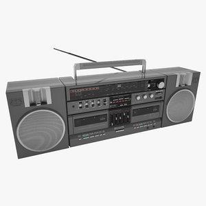 old cassette radio 3d model