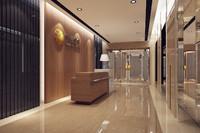 3d model bank reception