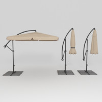 deck umbrella 3d model