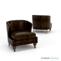 3d armchair 02 model