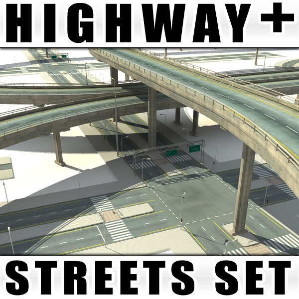 collections streets highway bridges 3d model