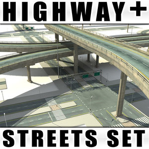 collections streets highway bridges 3d model